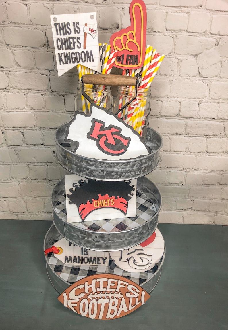 Kansas City Chiefs Party Decorations Chiefs Tiered Tray Tiered Tray Chiefs decor Kansas City Chiefs Tiered Tray Kansas City Chiefs