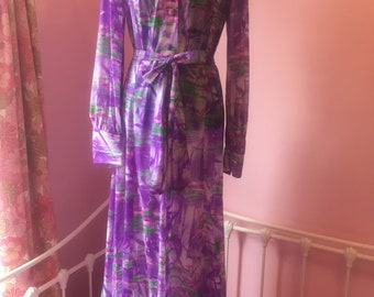 Vintage Purple floor length dress