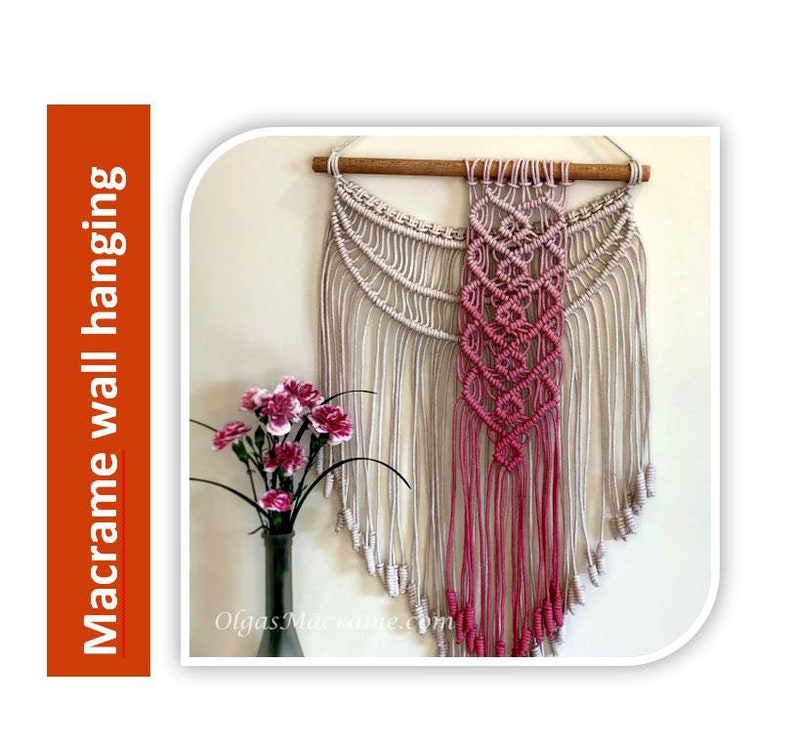 Tutorial  Macrame Hearts Wall hanging Step-by-step image 0