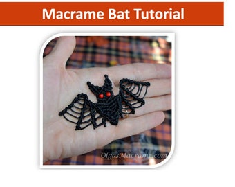 Tutorial - Macrame Bat Step-by-step instructions with images