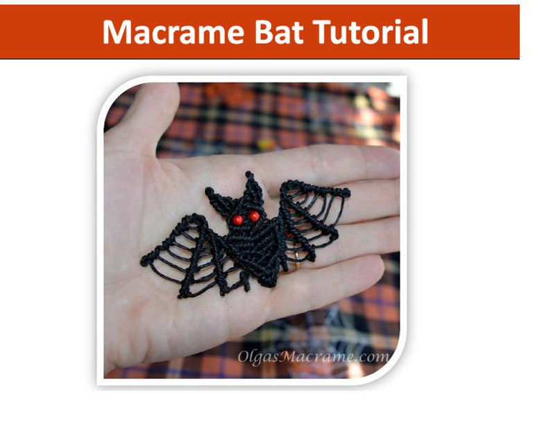 Tutorial  Macrame Bat Step-by-step instructions with images image 0