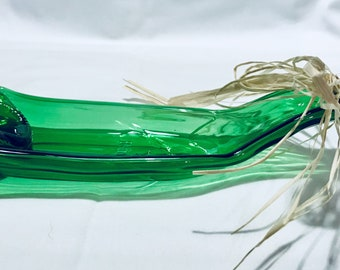 Slumped Beer Bottle,Slumped Heineken Bottle, Glass bottle, Glass dip dish, glass snack tray