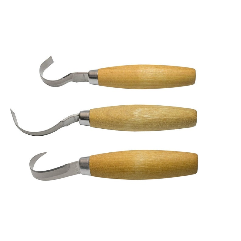 Mora s wood carving crook knife set stainless etsy