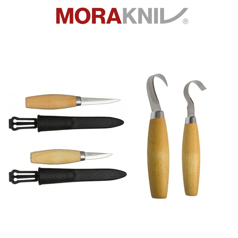 new design Mora Crook 164S  with Holster Spoon Whittling Wood Carving Tool