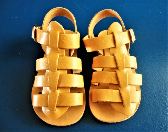 Genuine Baby Light Leather Ancient Girl Brown Kids Leather Grecian Greek Sandals Boy Sandals Sandals Sandals Sandals Sandals Baby 0xqwxEnBt