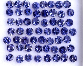 Natural Water Sapphire Blue Iolite Faceted Rondelle Loose Beads Strand 13 2.5mm