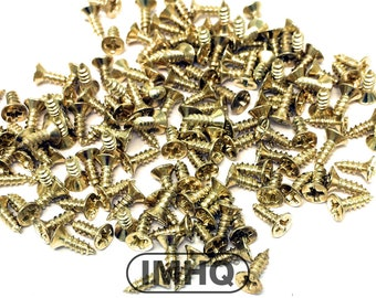 5mm Small self tapping phillips cross head metal screws, gold finish