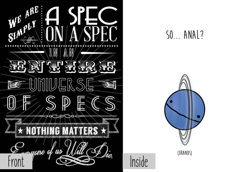 Might as Well Spec on a Spec Insignificant So Anal Greeting image 0