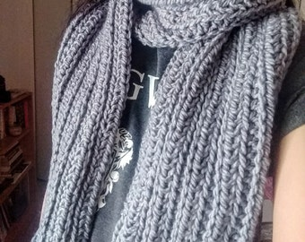 Wide Ribbed Scarf