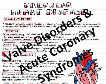 Valvular Heart Disorders & Acute Coronary Syndrome