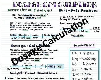 Dosage Caculations