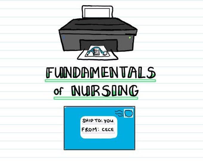 PRINTED + Digital PDF - Fundamentals of Nursing Bundle - Digital Pdf included - Nursing Notes - Cece's Study Guides - NCLEX