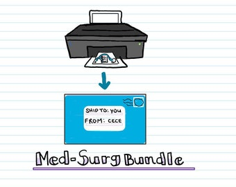 PRINTED + DIGITAL PDF - Med-Surg Bundle - Nclex - Nursing Notes - Cece's Study Guides