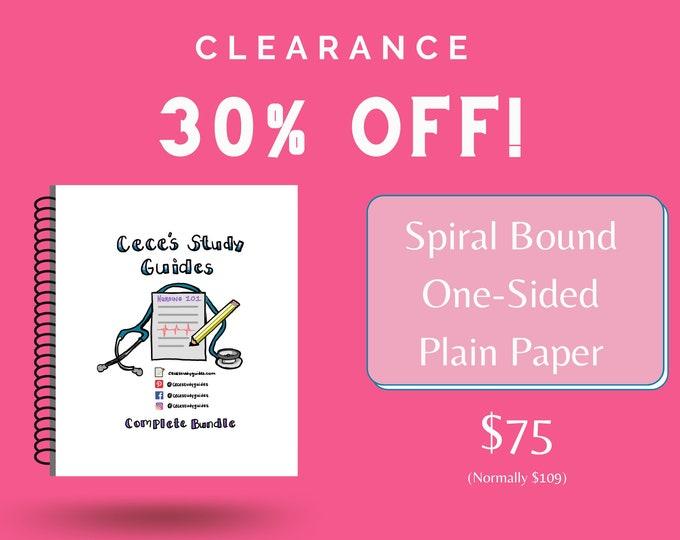 CLEARANCE - One Sided Plain Paper - Complete Nursing School Bundle + Digital File - Lowest Price ever!