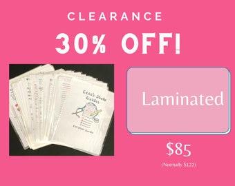 CLEARANCE - 2020 Version - Laminated Complete Nursing School Bundle + Digital File - Lowest Price ever