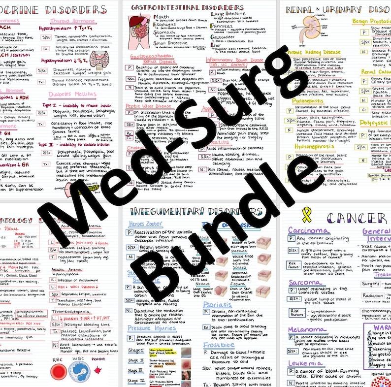 Med Surg 15 Page Bundle