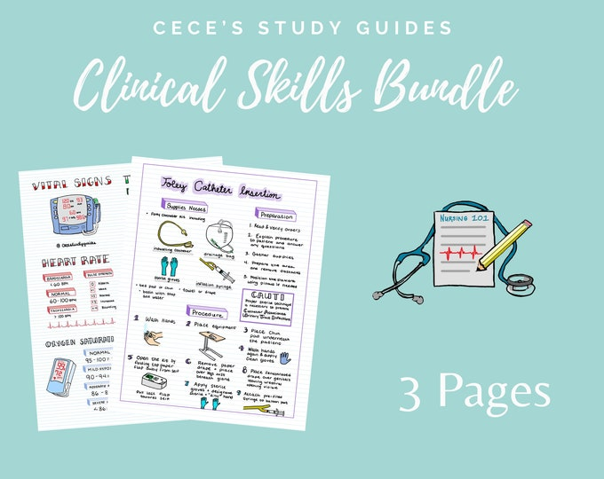 Clinical Skills Bundle - 3 Pages
