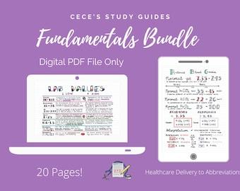 Fundamentals of Nursing 21 Page Bundle - Nursing School Notes