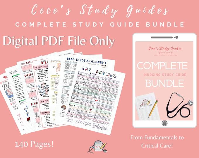 DIGITAL - Complete Study Guide Bundle for Nursing Students