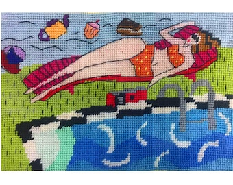 Mainly Fine with an Afternoon Tea Breeze Needlepoint Kit
