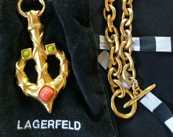 KARL LAGERFELD long necklace/ hip belt