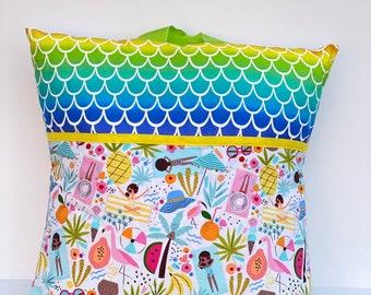 Mermaid Beach Book Pillow. Travel Activity Pillow
