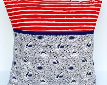 Shark Book Pillow. Travel Activity Pillow