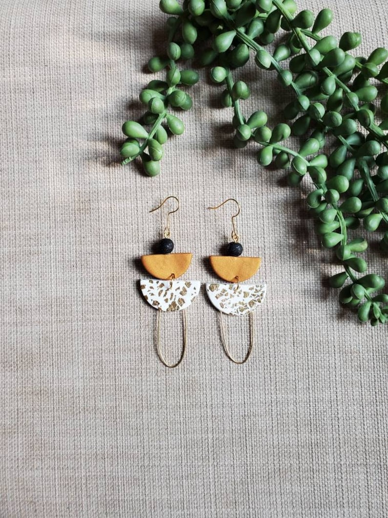 hypoallergenic funky clay earring handcrafted earring lightweight Clay earring polymer clay earring
