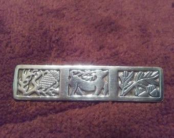 Sterling Silver Zephyrus Celtic Pin Brooch