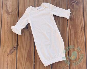 White Sleeper Gown Newborn