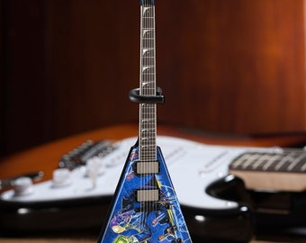 cd579972c8431 Licensed MEGADETH - Dave Mustaine Signature V Rust In Peace Mini Guitar