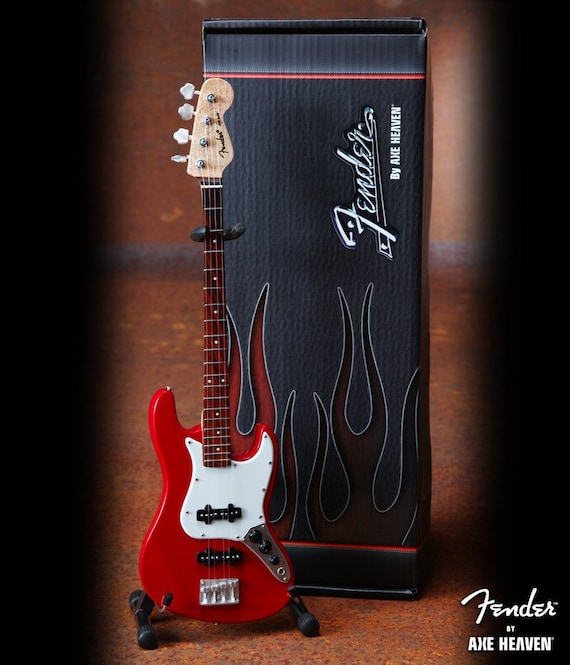 Fender™ Red Jazz Bass™ Mini Guitar Replica - Officially Licensed