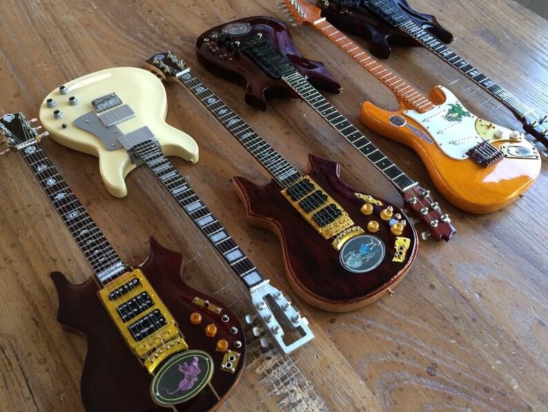 Jerry Garcia Grateful Dead Tribute Set Of 6 Mini Guitar Etsy