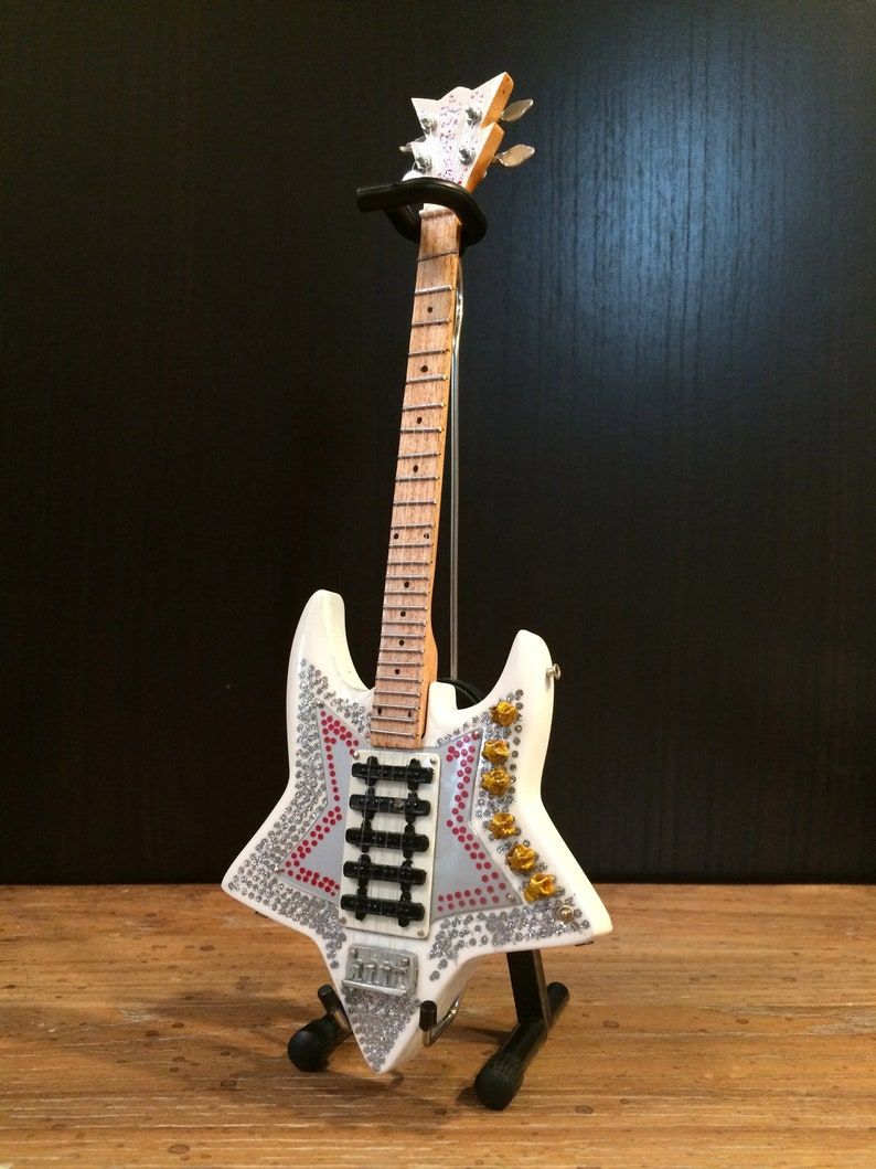 Officially Licensed Bootsy Collins \u201cSpace Bass\u201d Miniature Bass Guitar  Replica Collectible