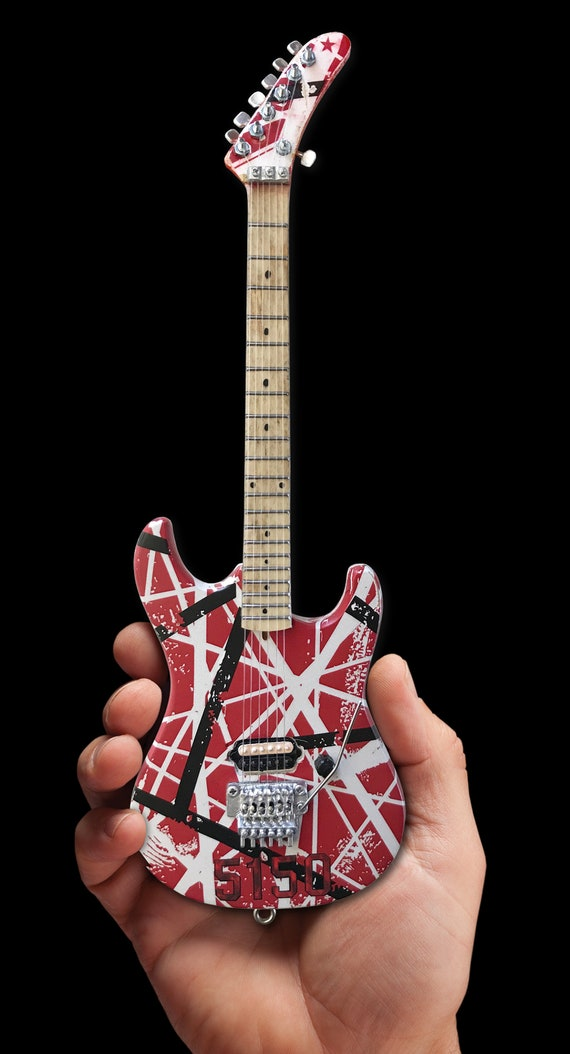 EVH 5150 Eddie Van Halen Mini chitarra Replica da collezione con licenza ufficiale