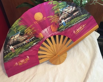 Japanese Fan - Hand Painted