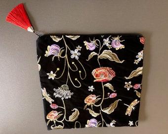 folded velvet clutch bags