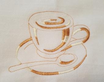 Coffee Fancy Tea Towel