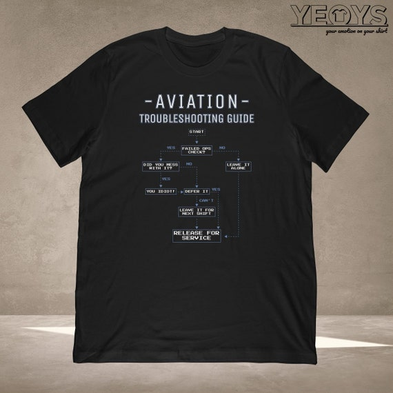 Aviation Shirts Graphic Tee Gift For Funny Aviation Quotes Aviation Jokes Pilot Jokes Aviation Troubleshooting Guide Tshirt Unisex