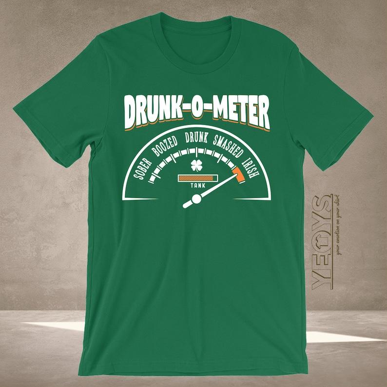 d09447868 Irish Drunk-O-Meter T Shirt Graphic Tee For St Patricks Day | Etsy