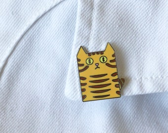 Ginger tabby cat pin
