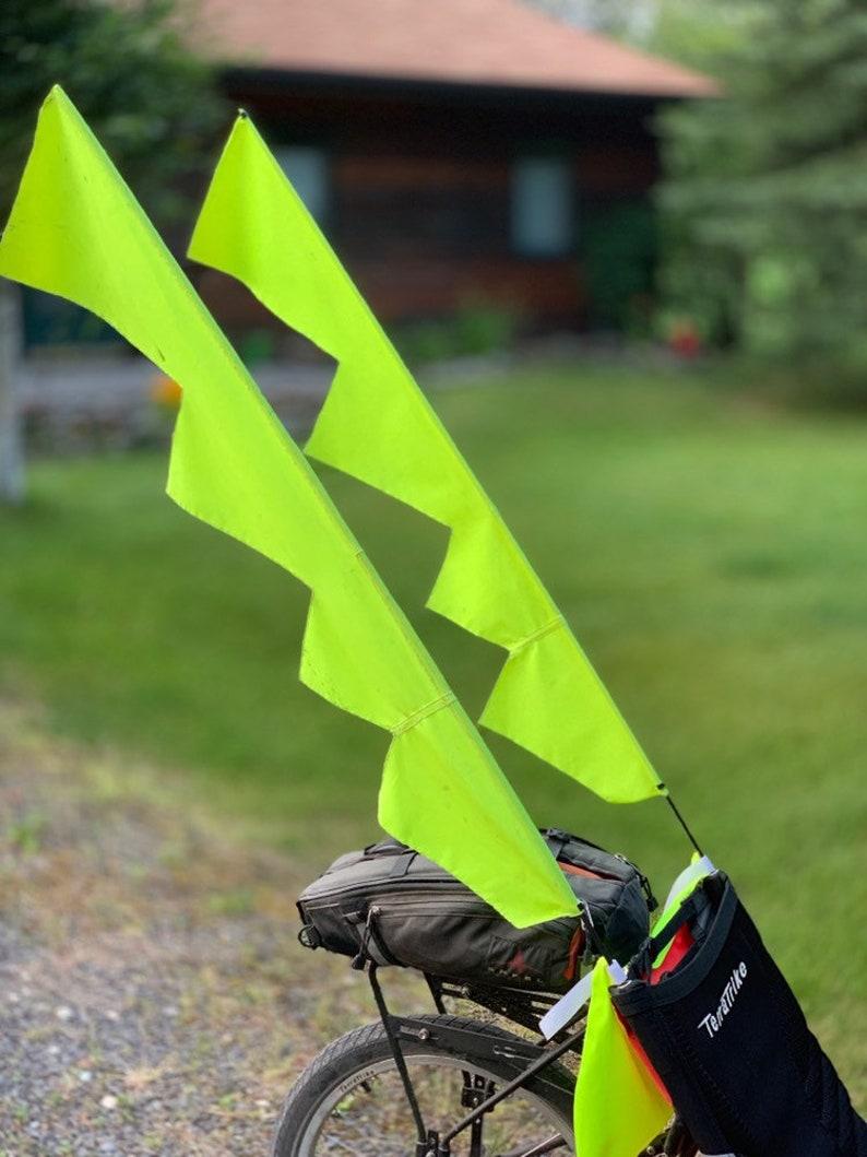 Bike flags - High visibility