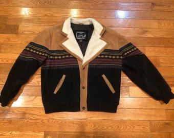 90s sherpa jacket | Etsy
