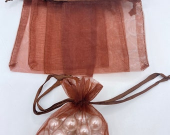 """48Pack 4x5""""inches Red Organza Bag,Drawstring Gift Pouch,Sheer Bags"""