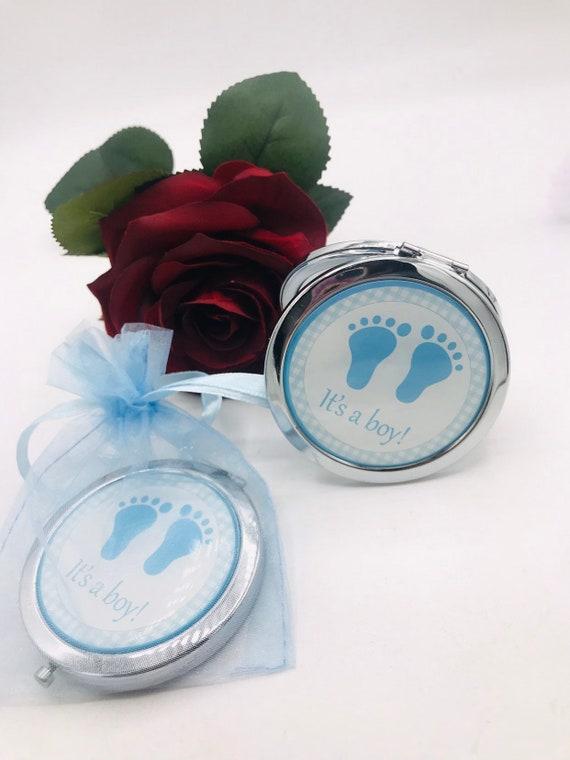 12-Baby shower Favors  Keychain recuerdos Baby shower Blue