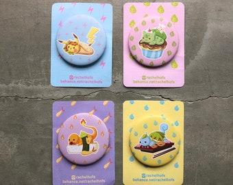 Pokemon button badges