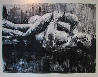 "B&W Painting ""Disconsolation"""