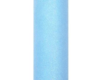 """6/""""x25yd GLITTER TULLE Roll cucito tessuto Tutu regalo di nozze con fiocco carft Spool"""
