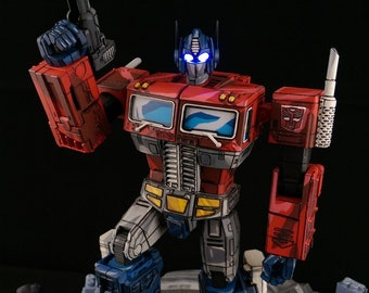 Optimus Prime Transformers Devastation custom action figure MP10 Masterpiece LED eyes by Shinigami Customs
