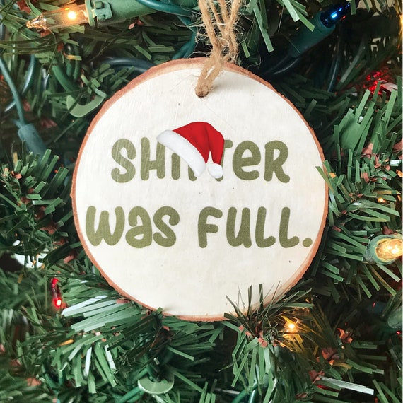 Wood Slice Ornament Christmas Vacation Funny Ornaments Stocking Stuffer Gifts Under 10 Secret Santa Snarky Ornament Funny Gifts
